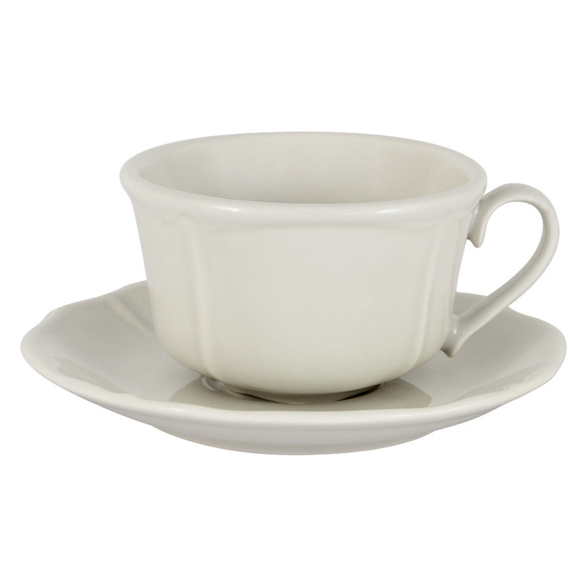 Чашка с блюдцем 0,2л белая Matceramica villa фото