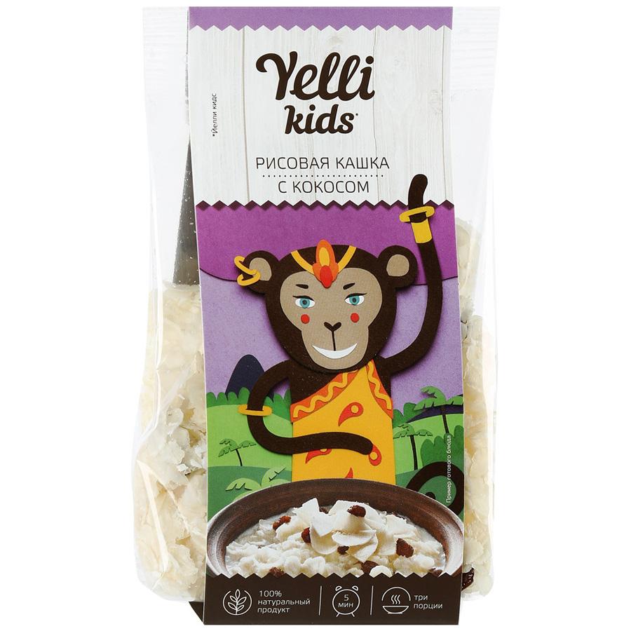 Рисовая кашка Yelli kids с кокосом 100 г детский супчик yelli kids рисовый с овощами 100 г
