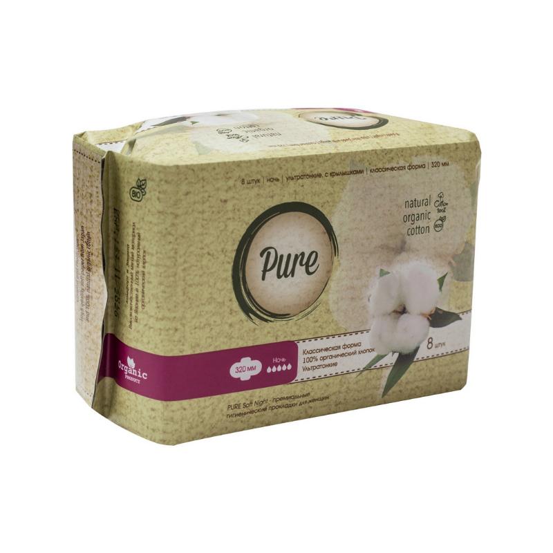 Прокладки гигиенические Pure Найт Софт 8 шт недорого