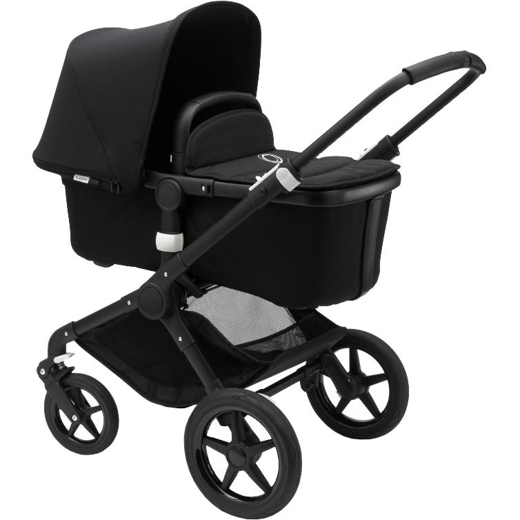 Купить Коляска 2 в 1 Bugaboo Fox Complete Black/Black-Black, Китай, всесезонная, Детские коляски, автокресла и аксессуары
