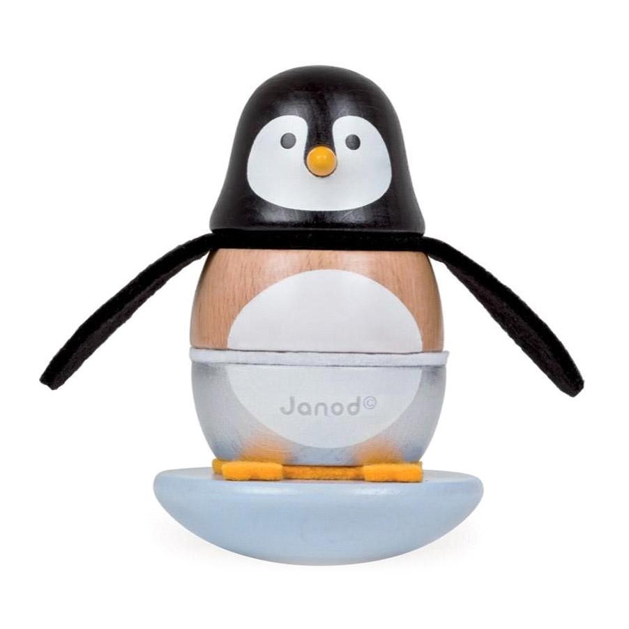 Пирамидка-качалка Janod Пингвинчик 18 см