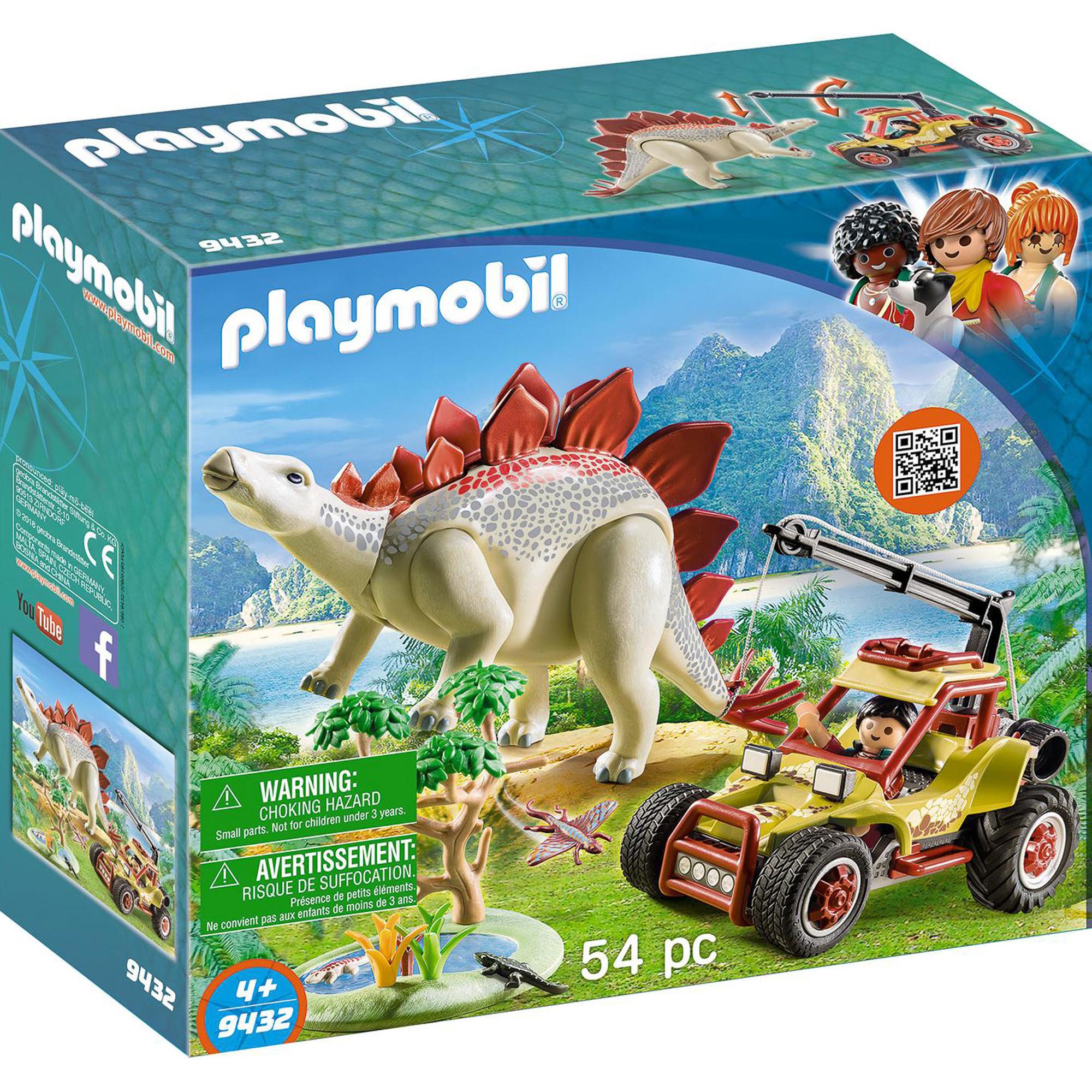 Конструктор Playmobil Исследовательский транспорт со стегозавром фото