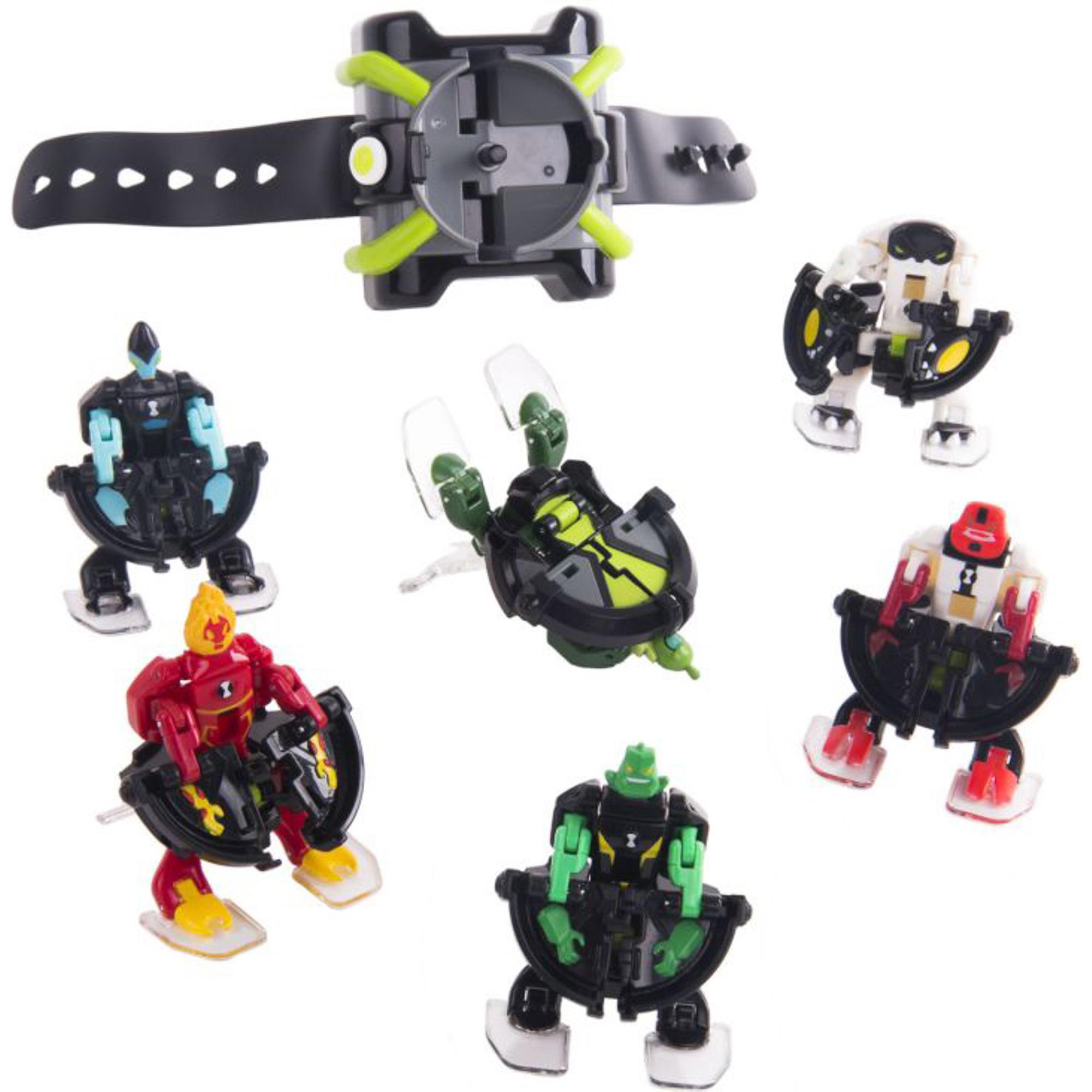 Купить Игровой набор Бен 10 Омнизапуск Мегапак часы и 6 фигурок, Playmates, набор фигурок, Китай, пластик