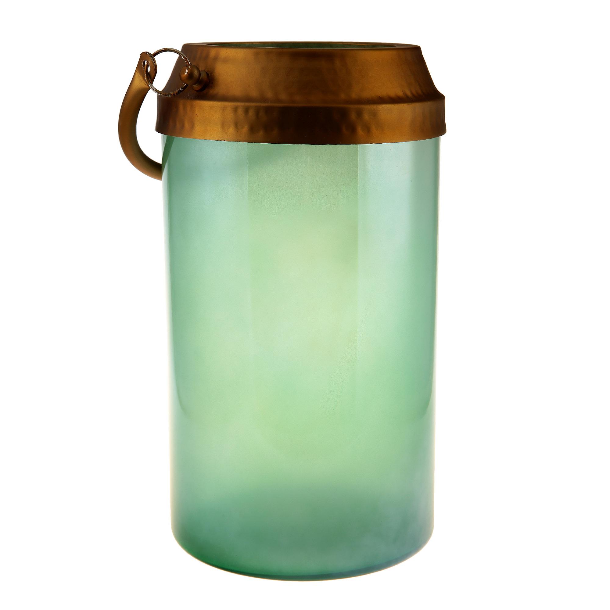 Фонарь д15см 29см светло-зеленый Edelman фото