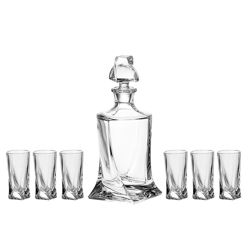 Набор для ликера Crystalite Bohemia Quadro 7 предметов