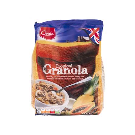 Гранола Grain тропические фрукты 500 г