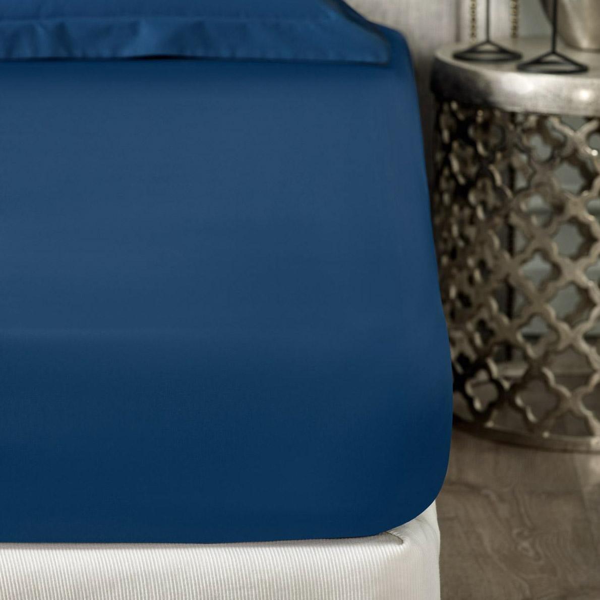 Фото - Простыня Togas роял темно-синий 200x230 см пододеяльник togas роял темно синий 145х200