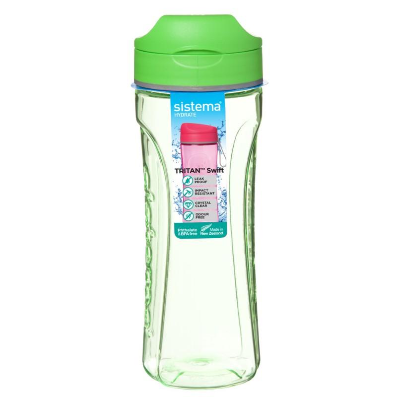 Фото - Бутылка для воды Sistema Tritan Swift 0,6 л бутылка для воды tritan active 600 мл цвета в ассортименте 640 sistema