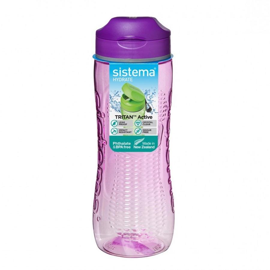 Фото - Бутылка для воды Sistema Tritan Swift 0,8 л бутылка для воды tritan active 600 мл цвета в ассортименте 640 sistema