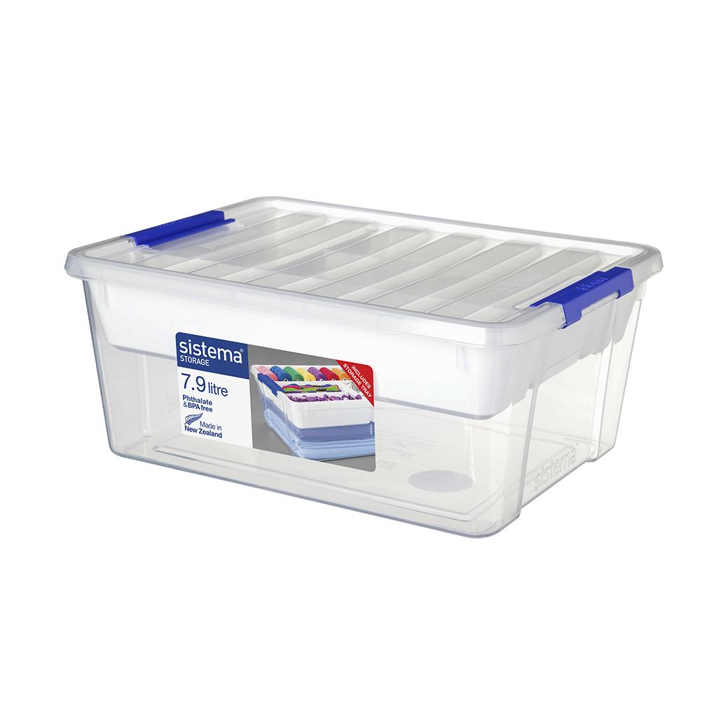 Контейнер для продуктов Sistema With Storage Tray 7,9 л