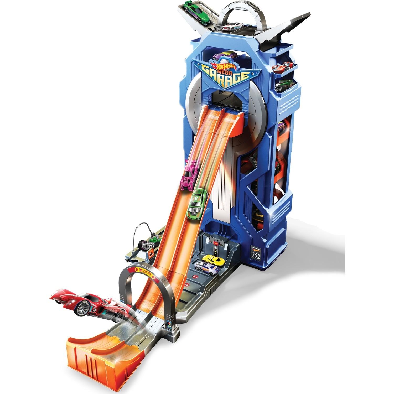 Купить Игровой набор Mattel Hot Wheels Сити Мега гараж, Китай, синий, оранжевый, пластик, Наборы игровые