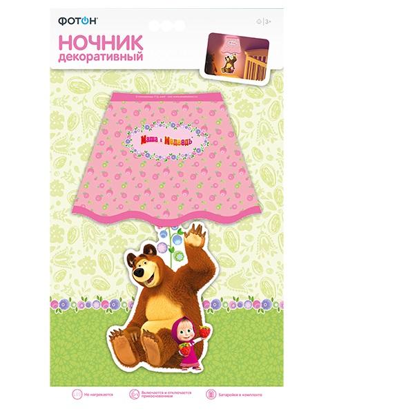 Ночник декоративный ФОТОН Маша и Медведь Маша и ягоды батарейка фотон lr6 вp4 маша и медведь 4 шт
