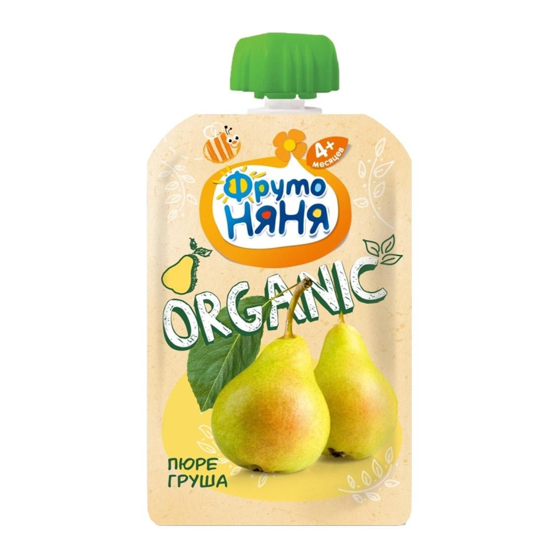 Пюре фруктовое ФрутоНяня Organic Груша 90 г пюре фрутоняня organic груша с 4 мес 80 г фрутоняня