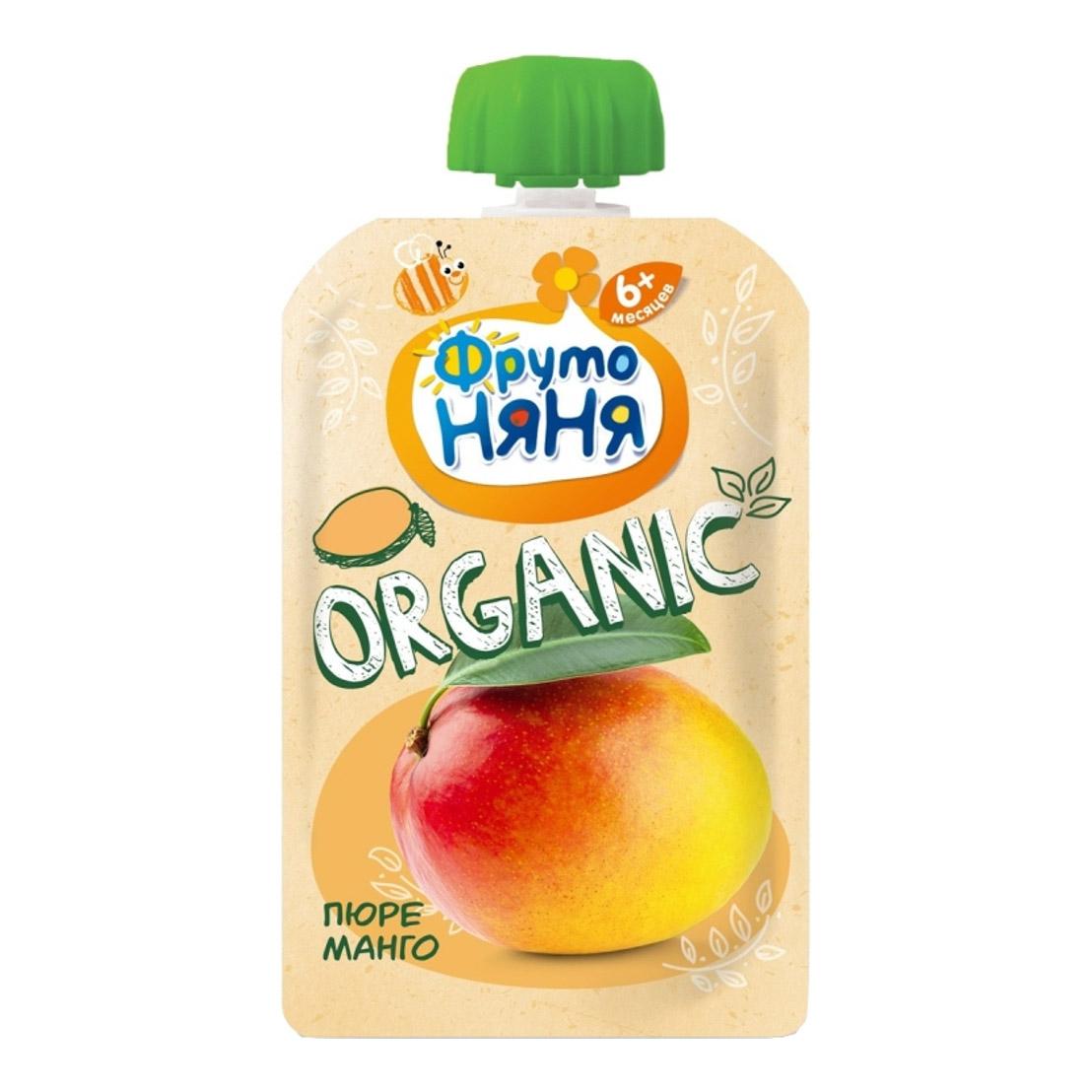 Фото - Пюре фруктовое ФрутоНяня Organic Манго 90 г пюре gerber organic банан манго злаки йогурт с 8 мес 90 г