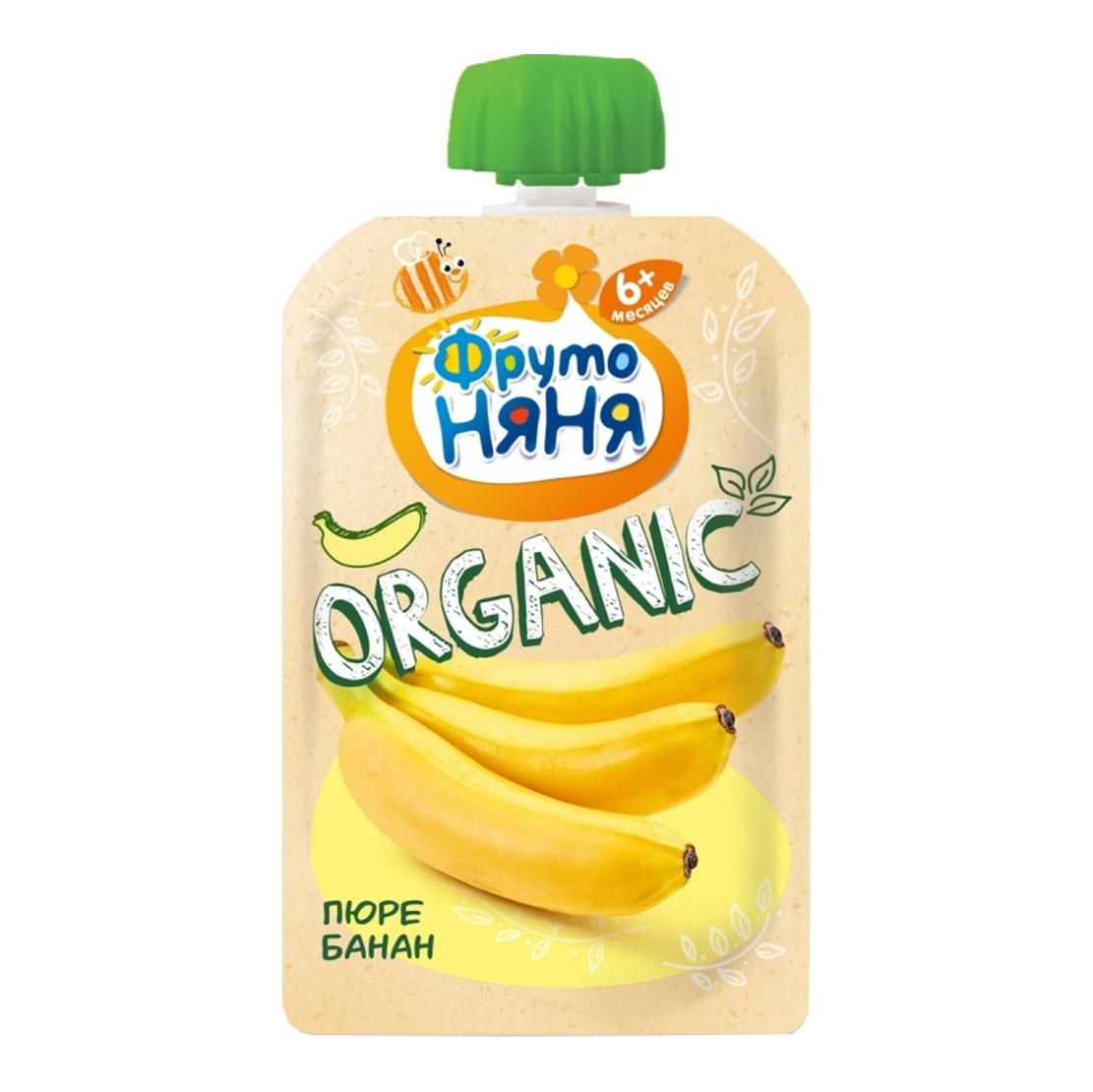Пюре фруктовое ФрутоНяня Organic Банан 90 г