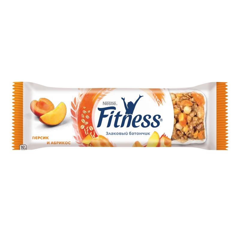 Батончик злаковый Nestle Fitness Персик и абрикос 23,5 г