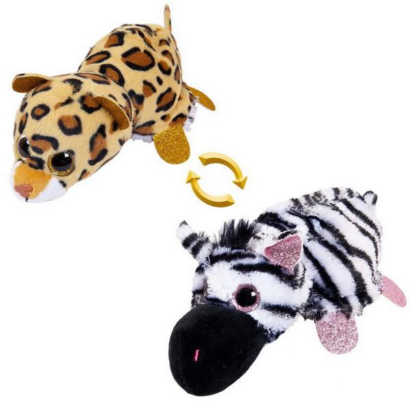 Игрушка перевертыши зебра/леопард ABtoys 16 см фото