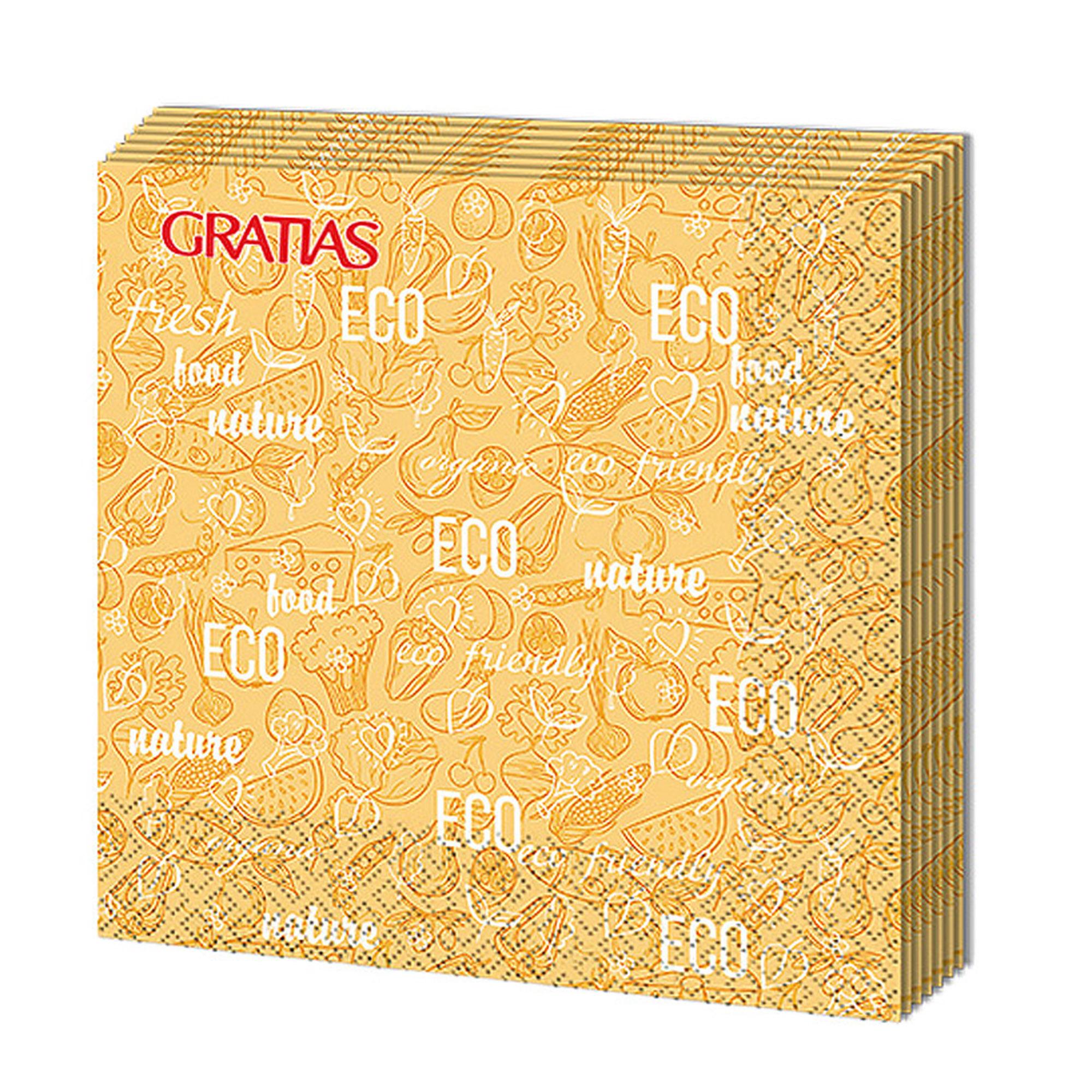 Салфетки бумажные Gratias Эко трехслойные 33х33 см 12 шт