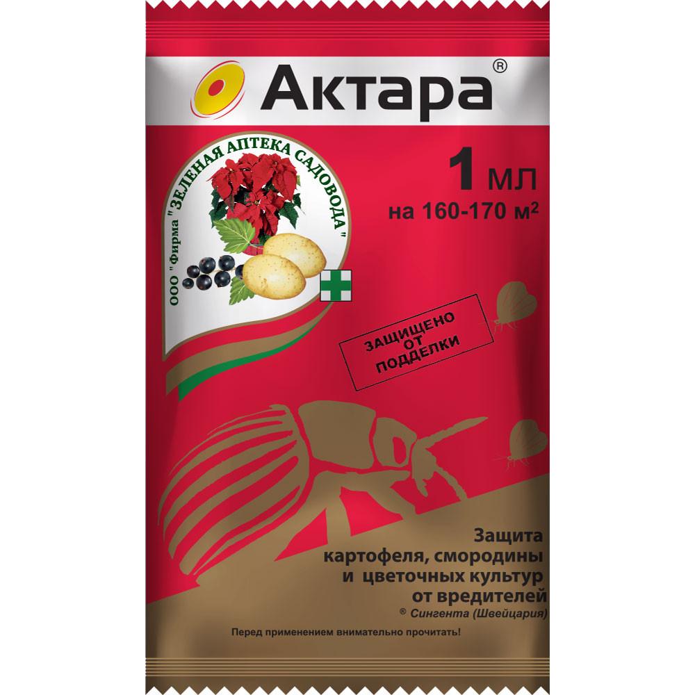 Защита от насекомых Зеленая аптека Актара 1 мл