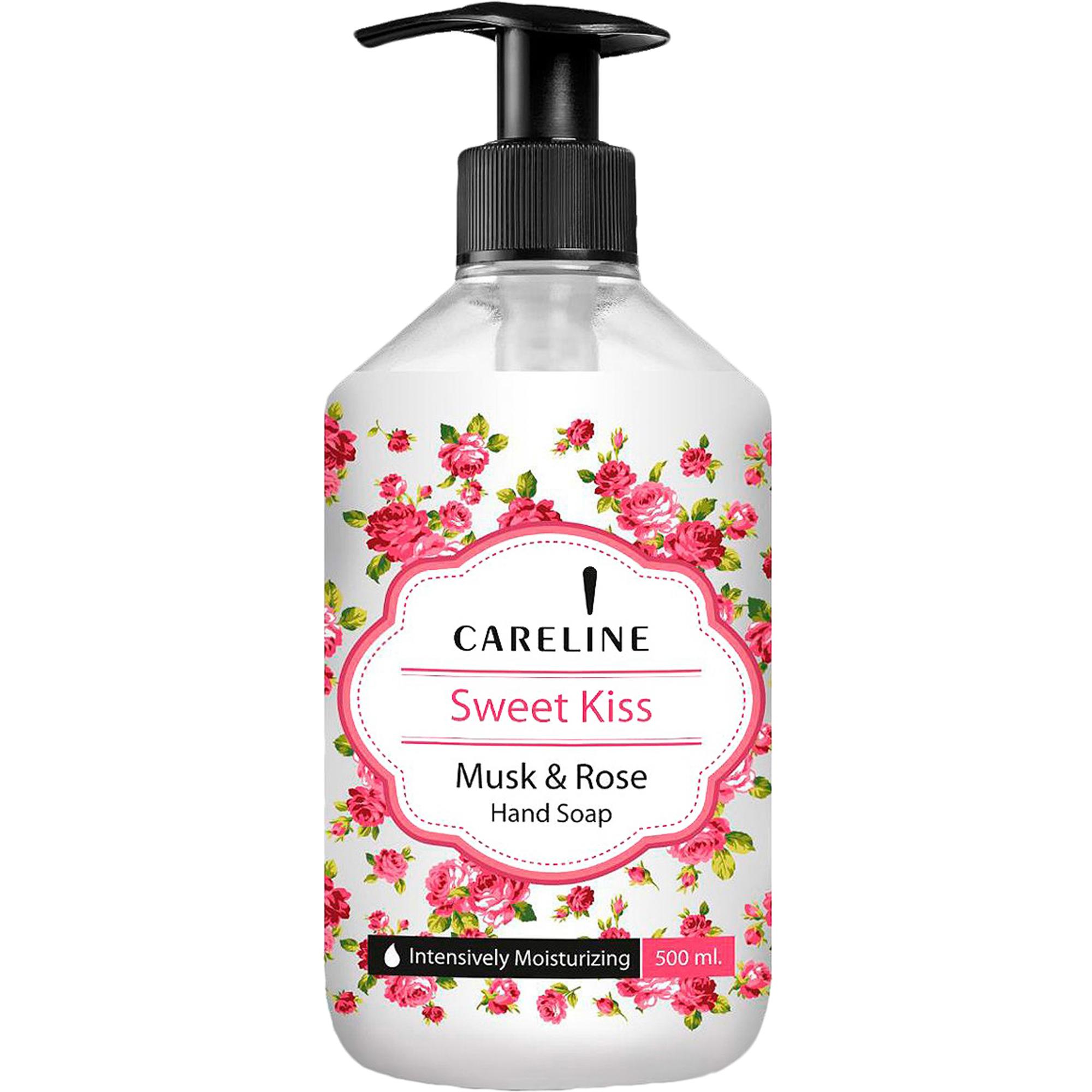 Фото - Мыло жидкое для рук Careline Поцелуй с ароматом мускусной розы 500 мл жидкое мыло для рук с ароматом лайма и имбиря чистота и свежесть 250мл