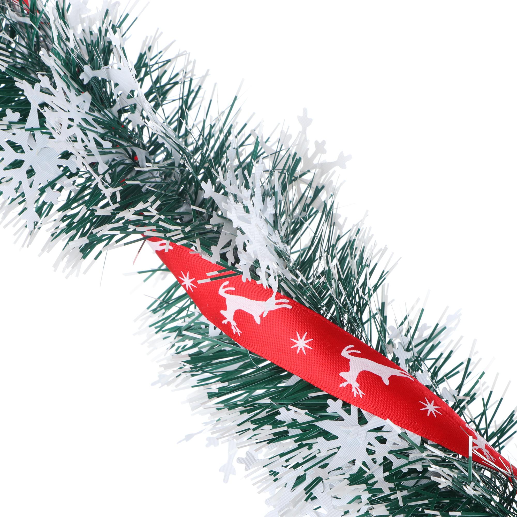 Мишура Weiste звезды с красной лентой 2 метра