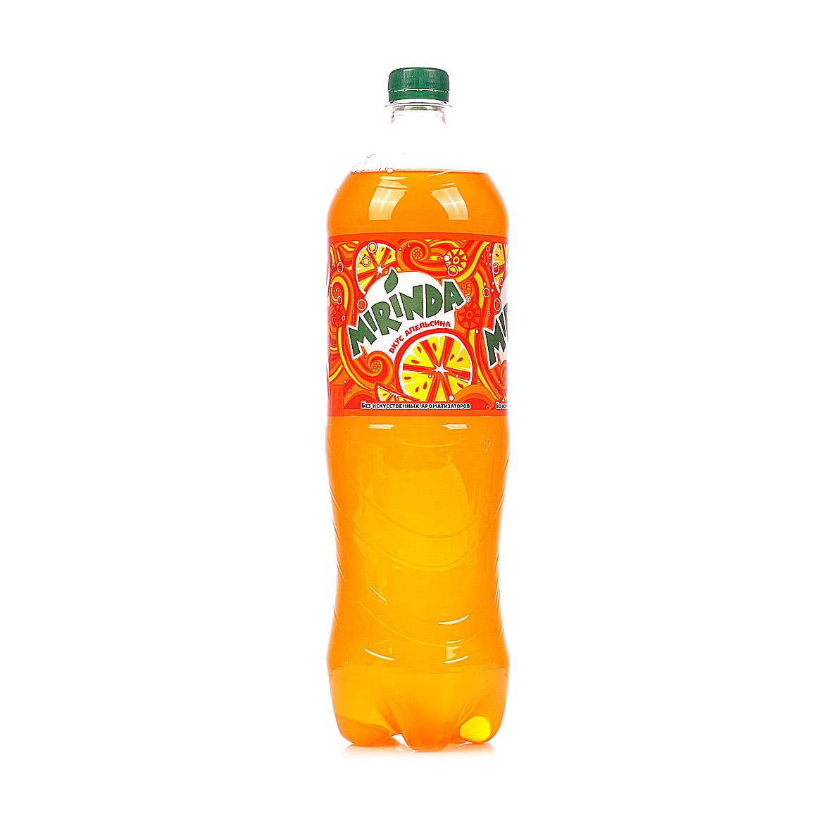 Напиток газированный Mirinda Orange 1 л напиток газированный 7 up лайм и мята 1 5 л