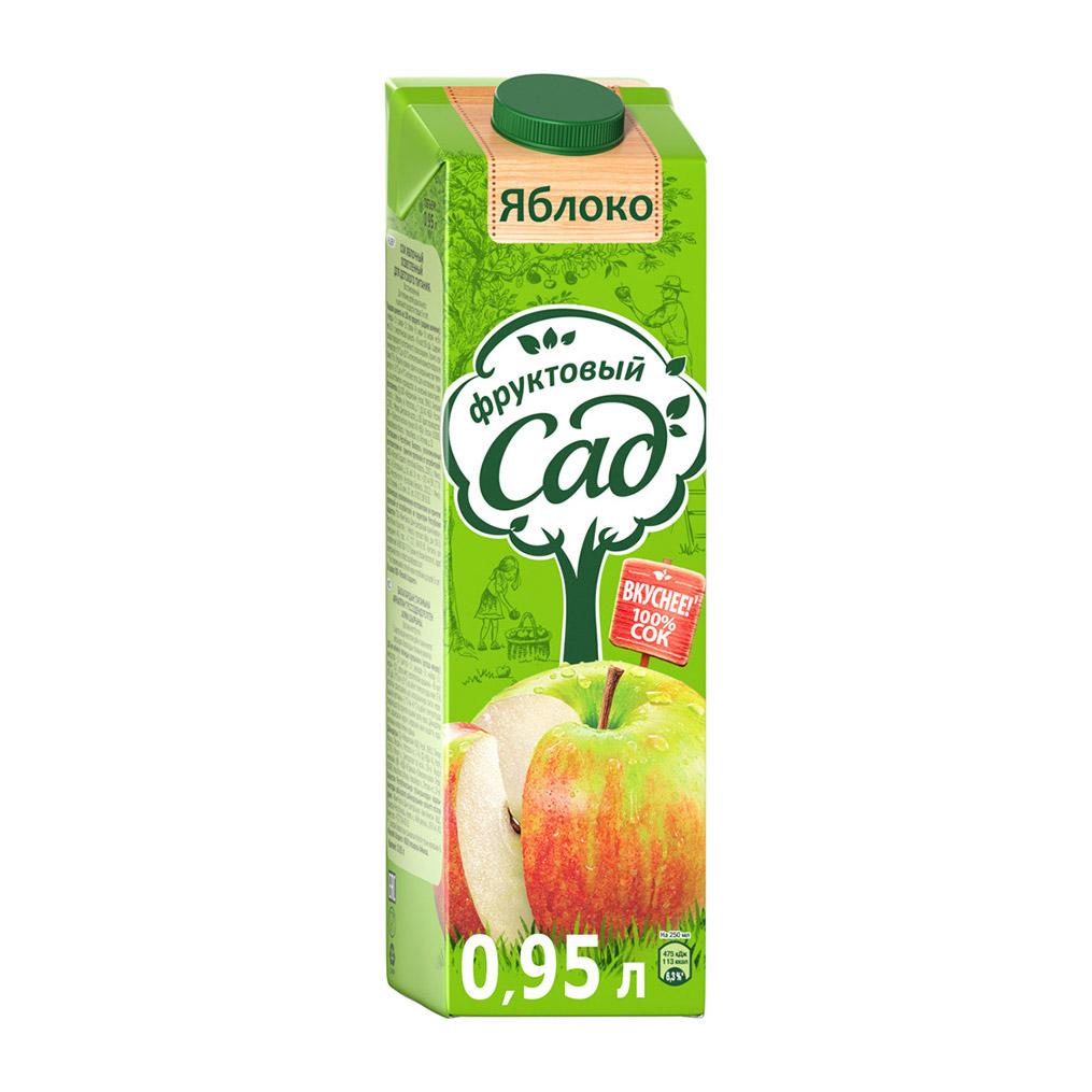 Сок Фруктовый сад яблочный осветленный 0,95 л