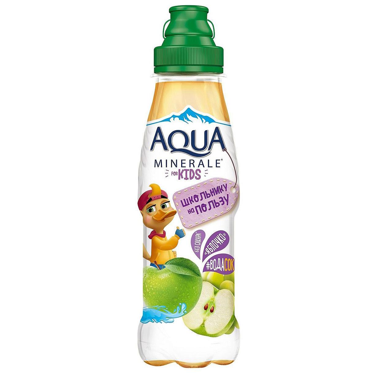 Фото - Напиток сокосодержащий Aqua Minerale for Kids Яблоко 300 мл вода aqua minerale малина 500 мл