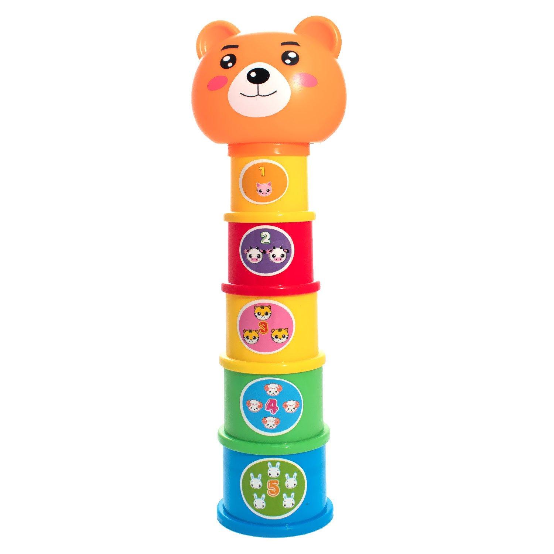 Пирамидка ToysLab Веселый зоопарк (75070).