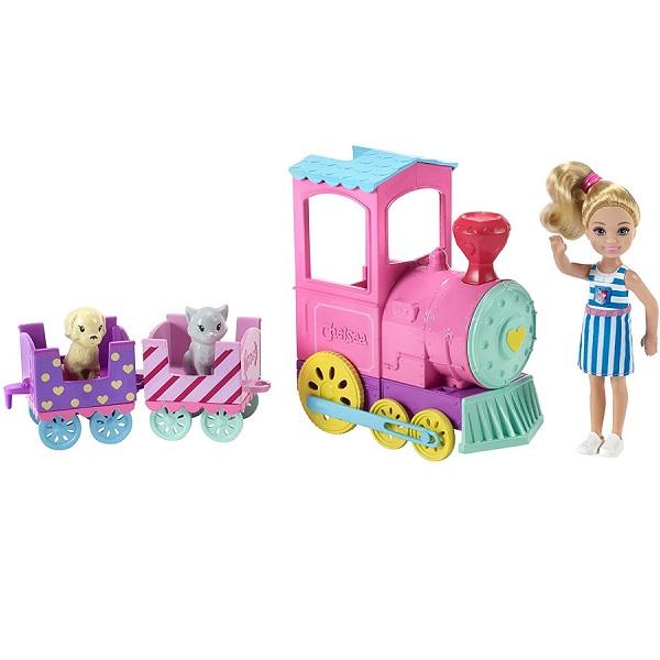 Купить Игровой набор Mattel Паровозик с куклой Челси. Barbie, Китай, пластик, Наборы игровые