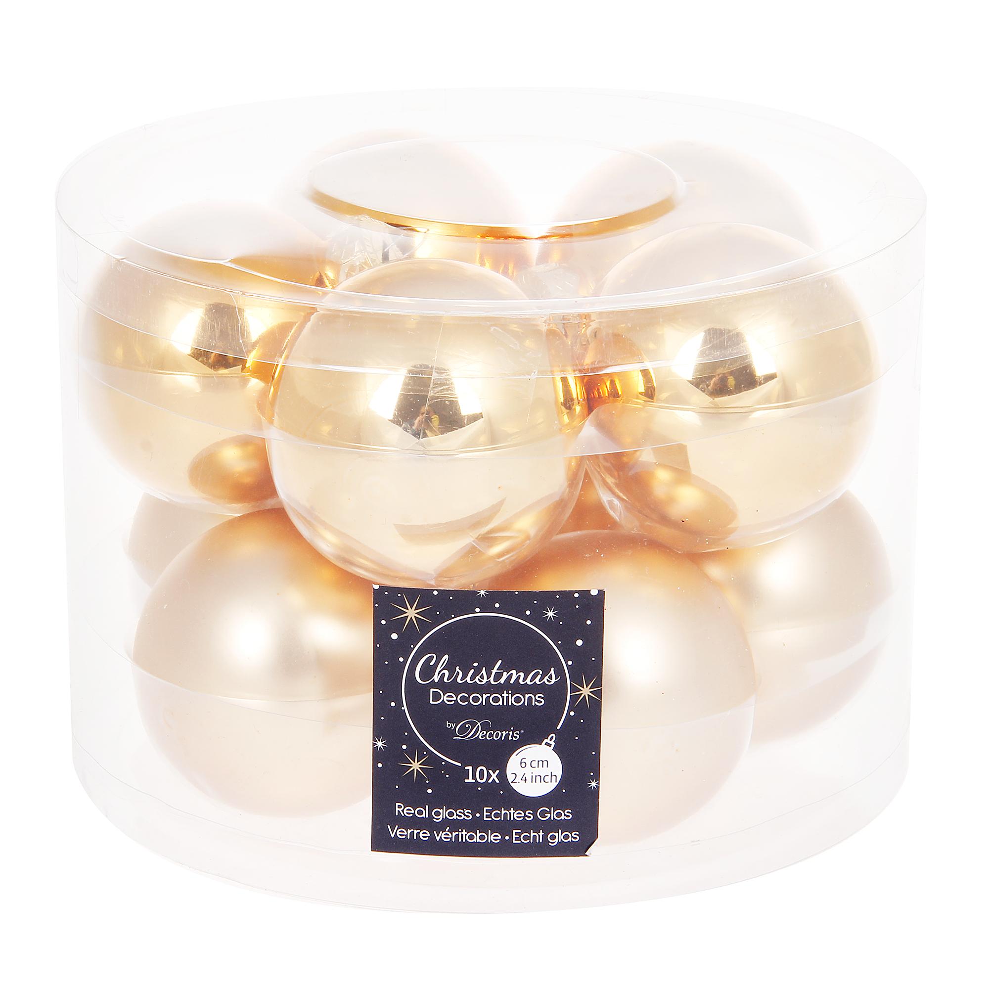 Набор шаров в тубе 6см 8шт Kaemingk набор шаров в тубе kaemingk 6см 10шт бордо стекло
