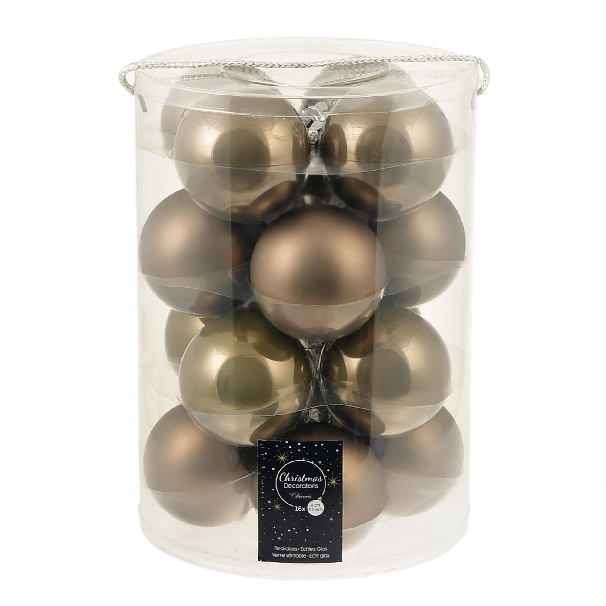 Набор шаров в тубе 8см 16шт Kaemingk