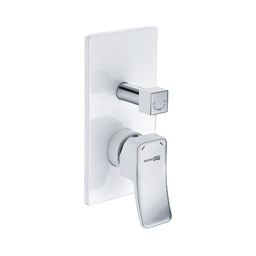 Купить Смеситель Wasserkraft для ванны и душа Aller 10641WHITE, смеситель, Германия, белый