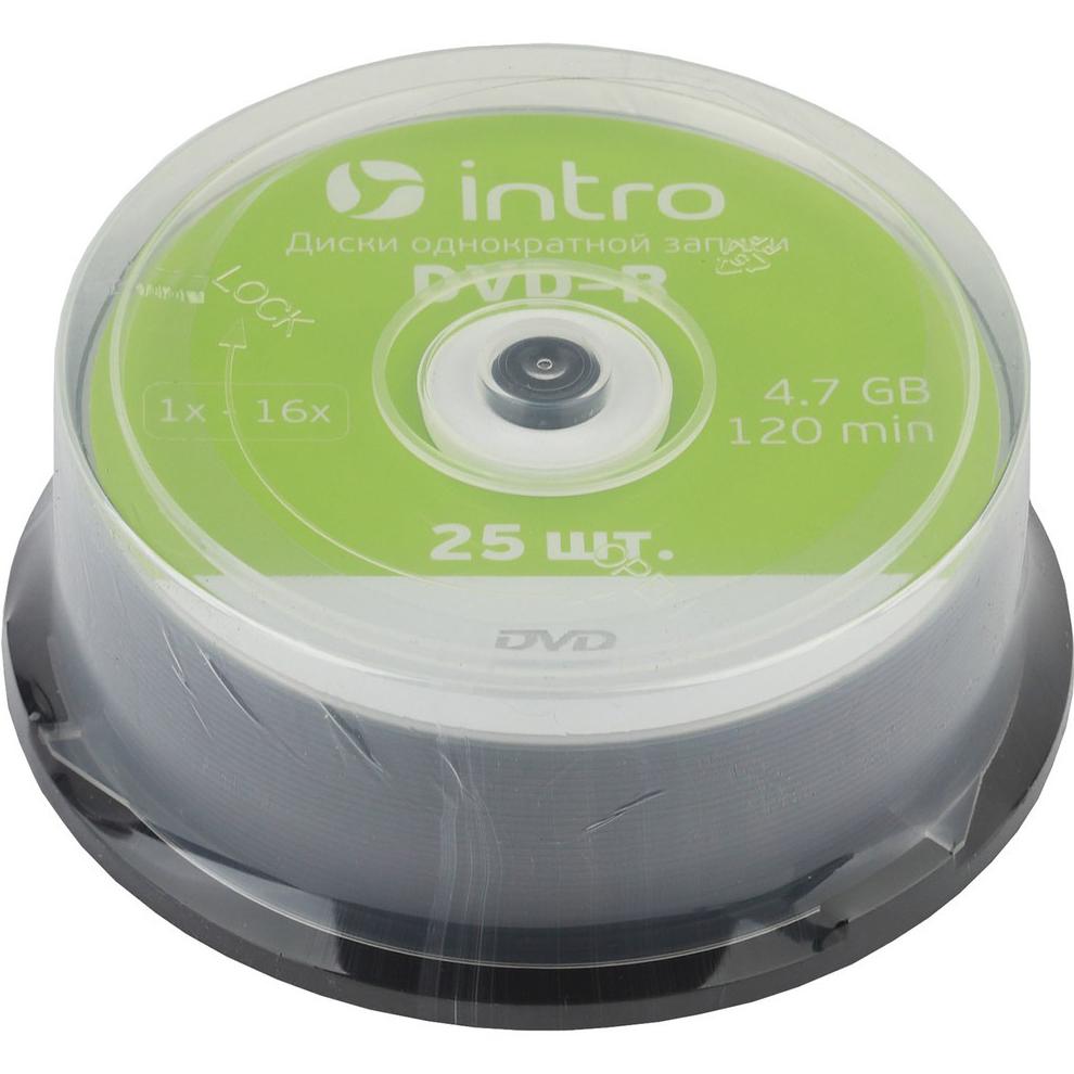 Диск INTRO DVD-R 4.7Gb 16x Cakebox 25 шт