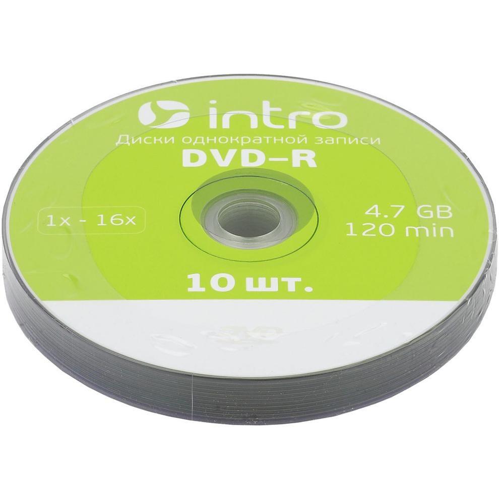 Диск INTRO DVD-R 4.7Gb 16x Shrink 10 шт