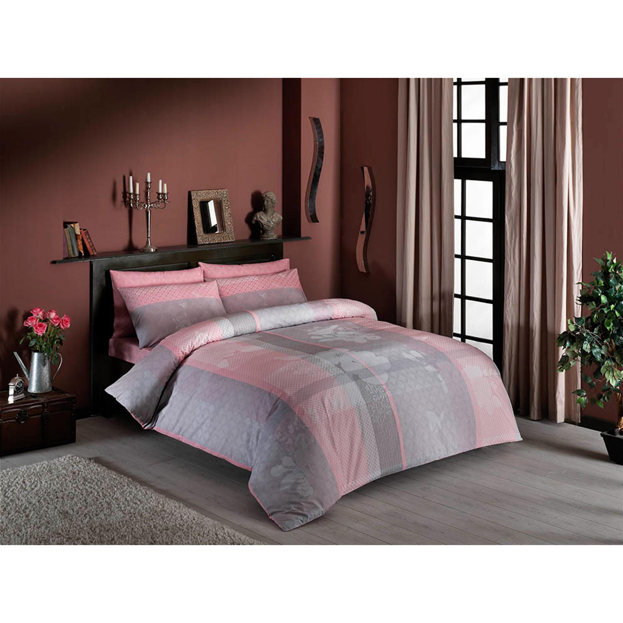 Постельный комплект TAC семейный alba розовый