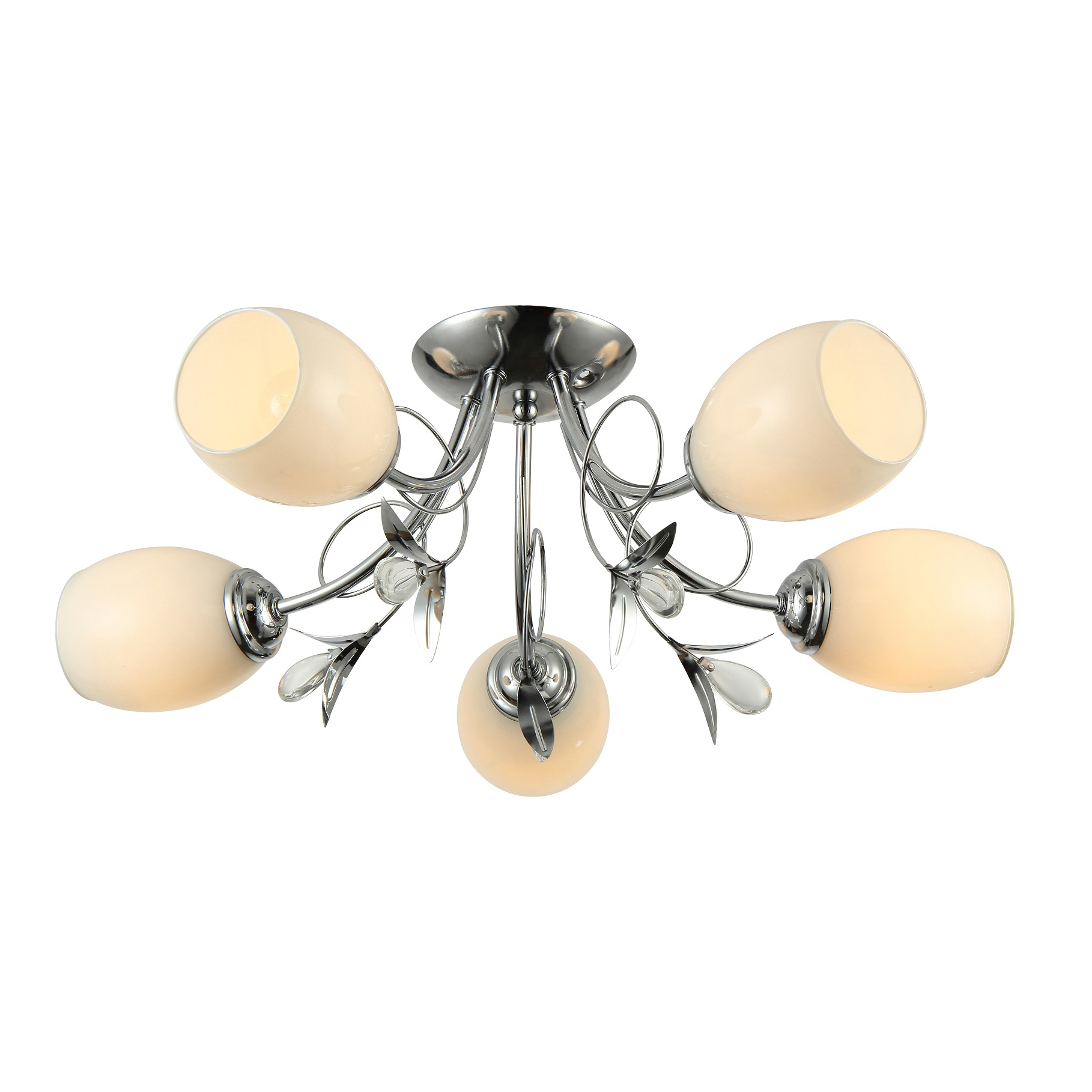Люстра потолочная J-light OLI 1118/5C E27*5*60W хром/белый люстра потолочная j light genry 1275 5c e14 5 60w кофе золото белый