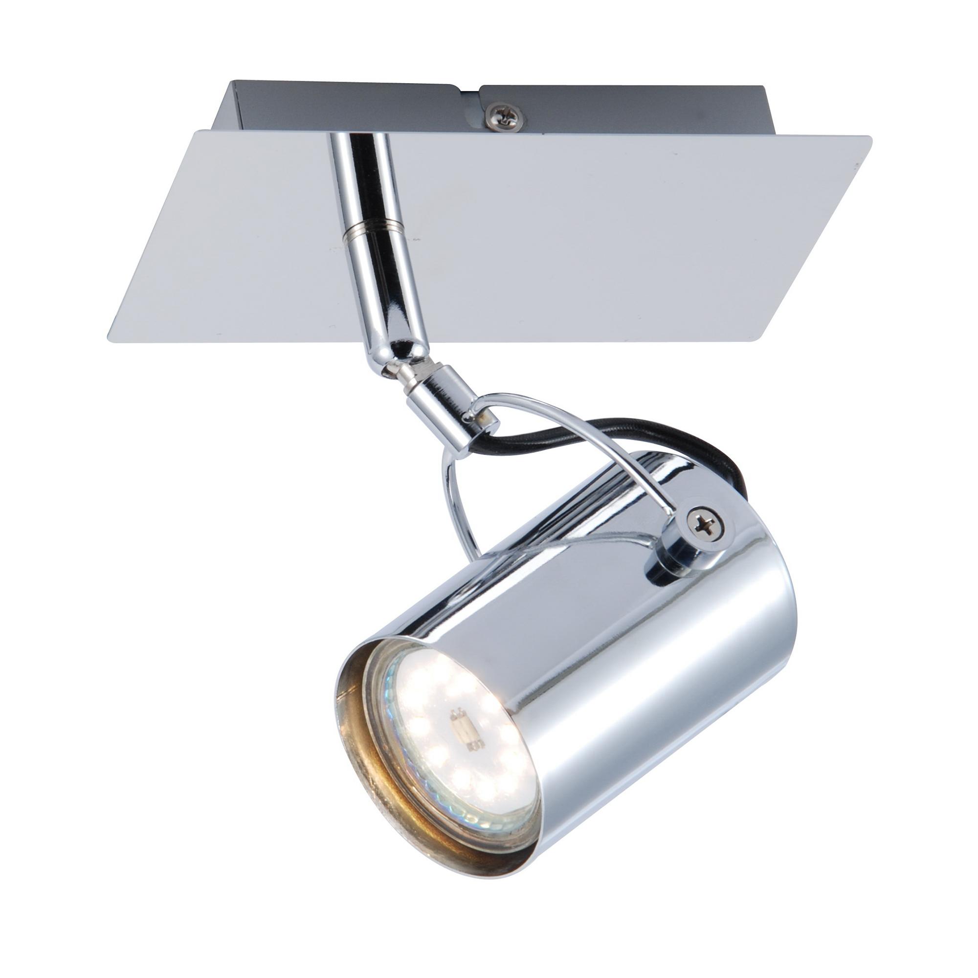Спот J-light SABI 1223/1A GU10*1*35W хром/хром спот j light damon 1410 1a gu10 1 35w хром хром
