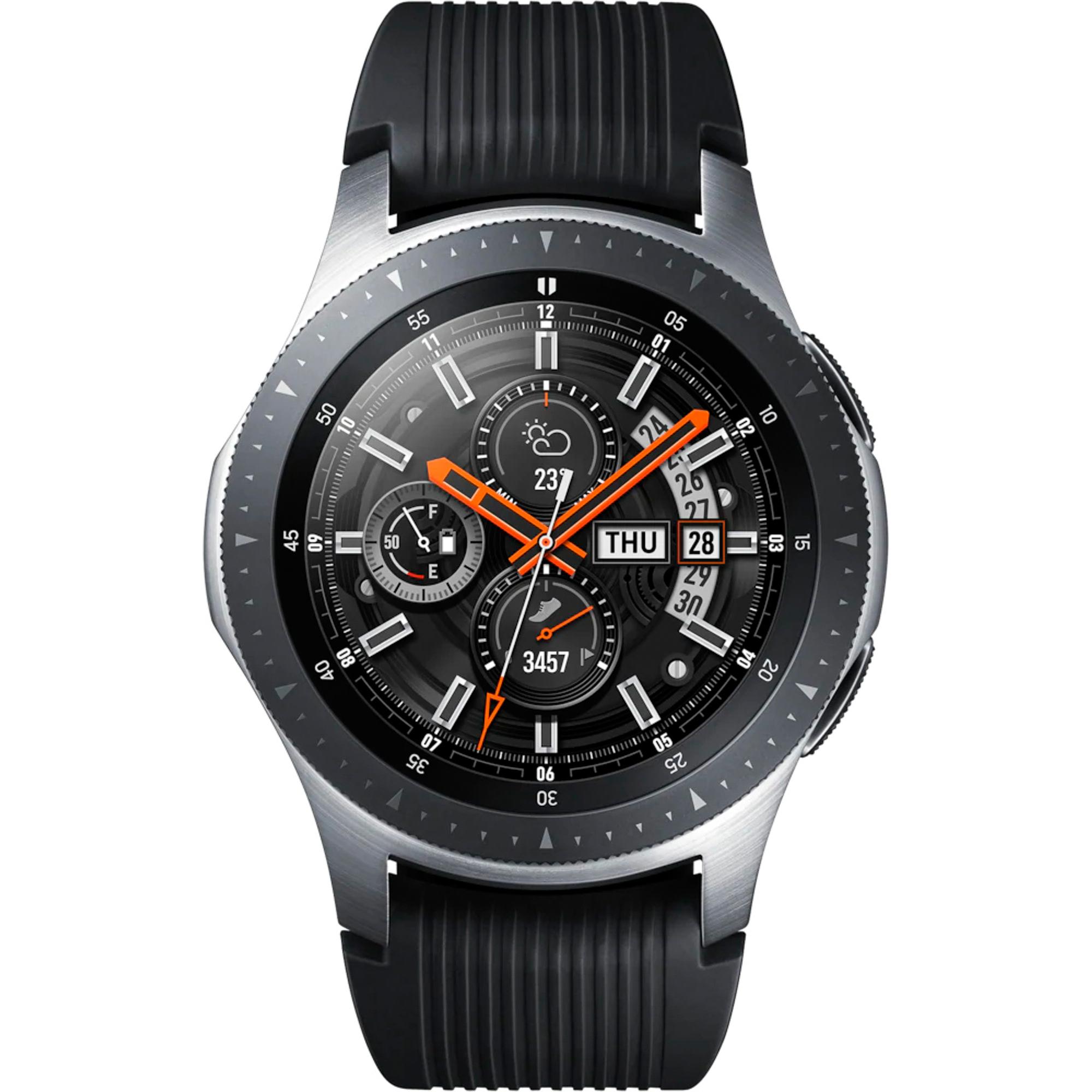 Фото - Умные часы Samsung Galaxy Watch 46 мм SM-R800 серебристая сталь смарт часы samsung galaxy watch 1 3 super amoled серебристый sm r800nzsaser