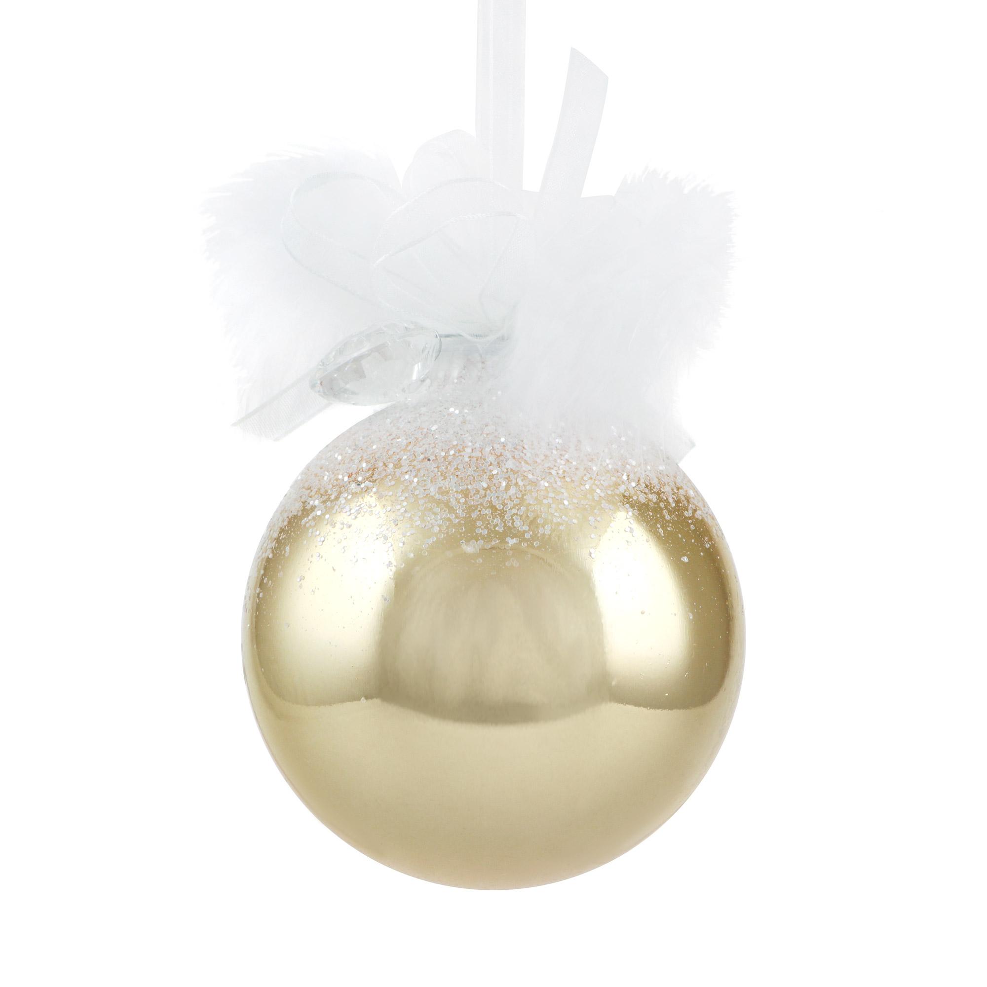 Шар золотой с кристаллами Weiste 85мм