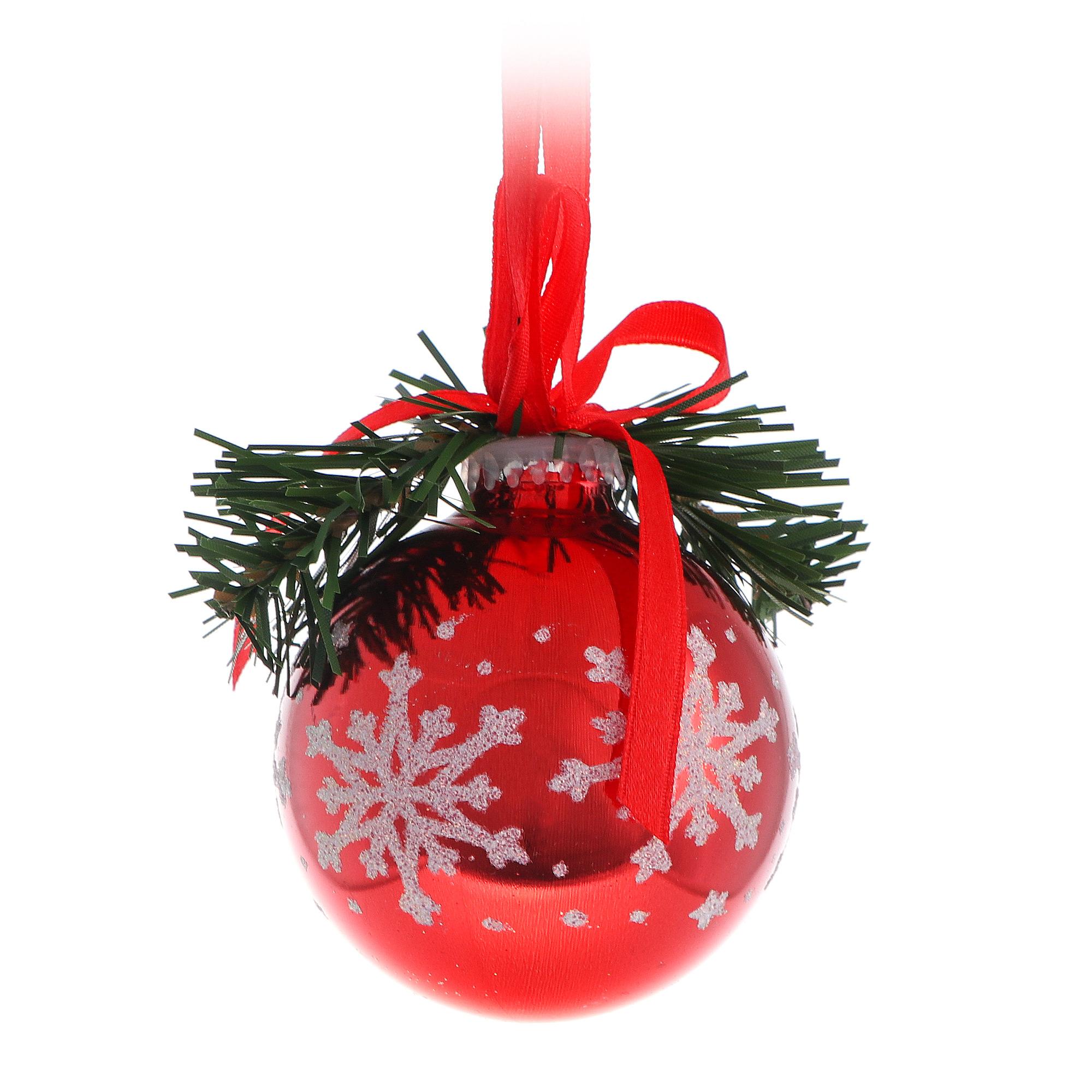 Шар новогодний со снежинкой Weiste 65мм