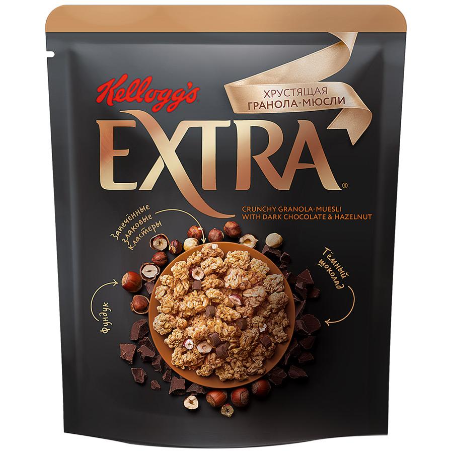Мюсли Хрустящая Гранола Kellogg's с темным шоколадом и фундуком 300 г фото