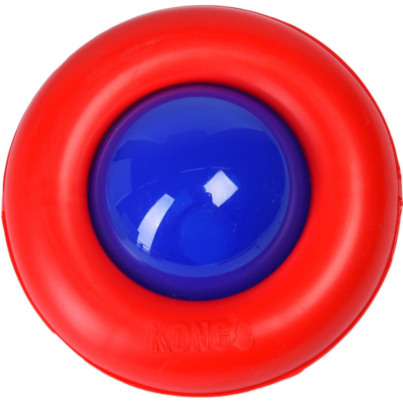 Игрушка для собак KONG Gyro Интерактивная под лакомства малая 13 см.