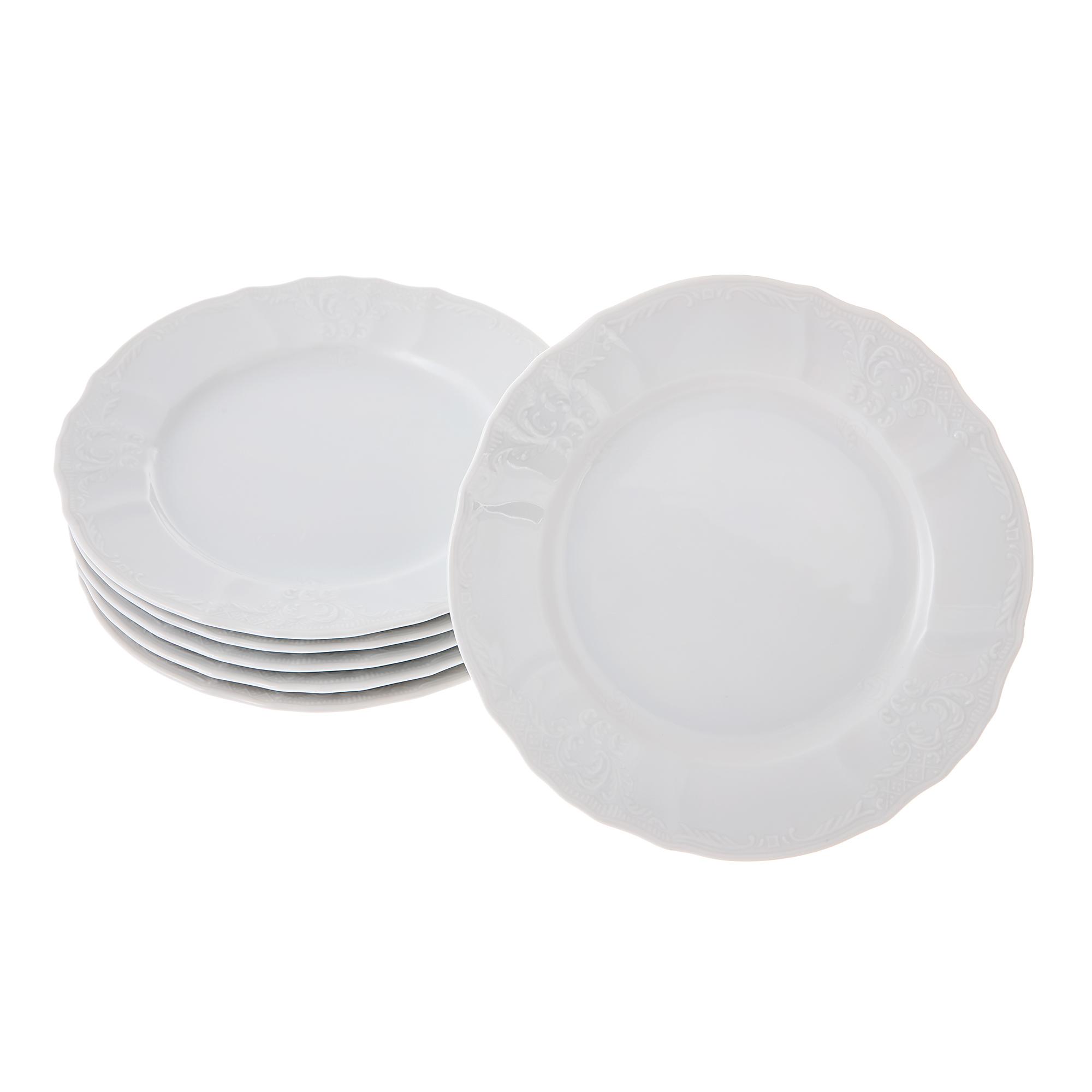 Набор тарелок десертных 19см недекорированная 6шт Bernadotte