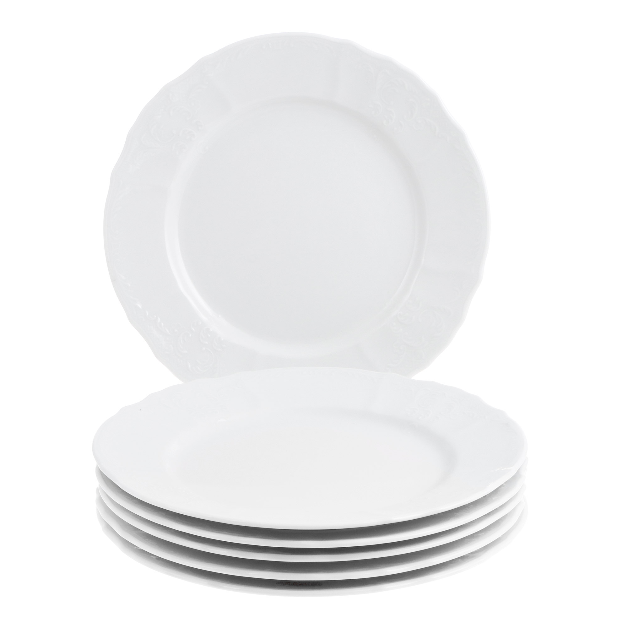 Купить со скидкой Набор тарелок Bernadotte фарфор 25 см 6 предметов