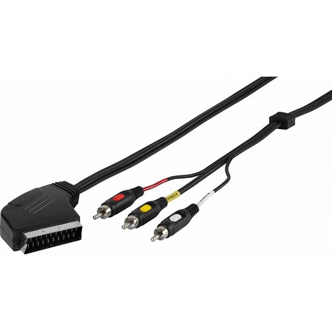 Фото - Кабель Vivanco 47017 (SCART-3RCA) 2 м кабель vivanco 47029 3rca 3rca 2 м