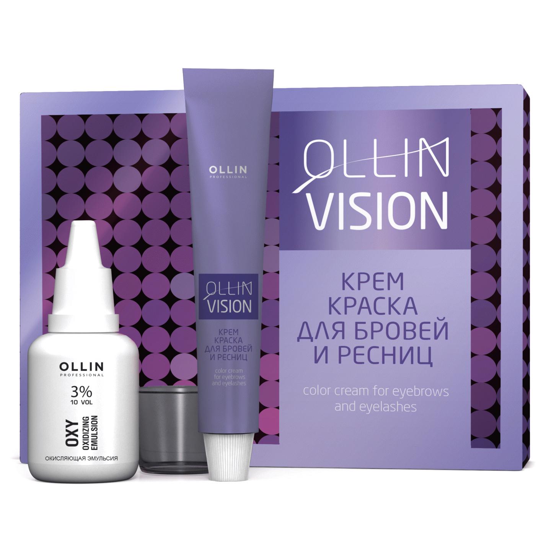 Крем-краска для бровей и ресниц Ollin Professional Vision Set black 20 мл недорого