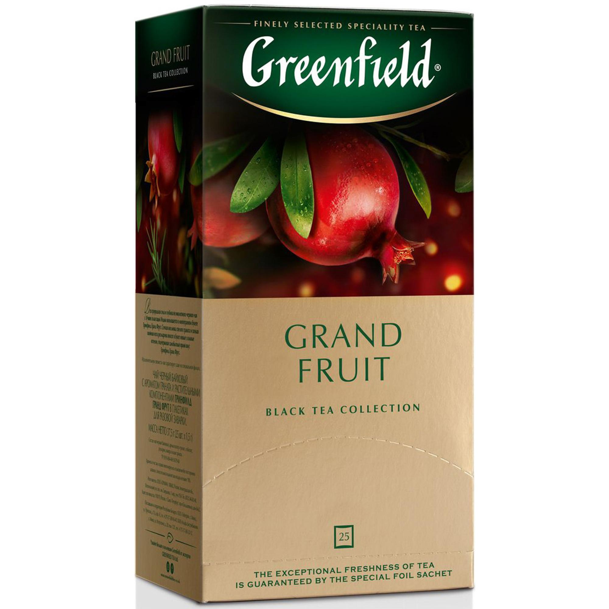 Чай черный Greenfield Grand Fruit с ароматом граната 25 пакетиков чай черный greenfield magic yunnan 25 пакетиков