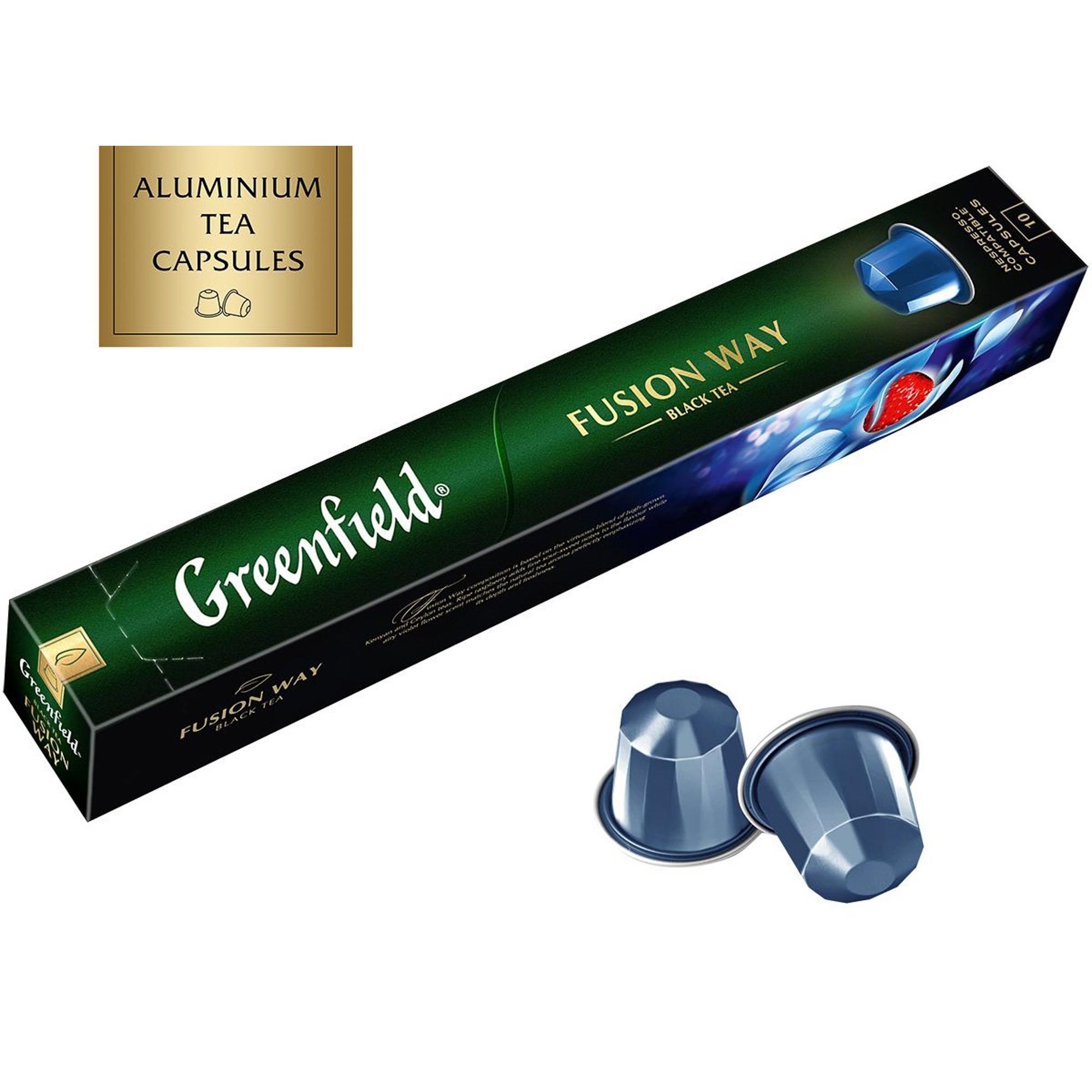 Чай в капсулах Greenfield Fusion Way с ароматом ягод лесной земляники и лепестками фиалки 10 шт чай в капсулах greenfield raspberry cream 10 капс