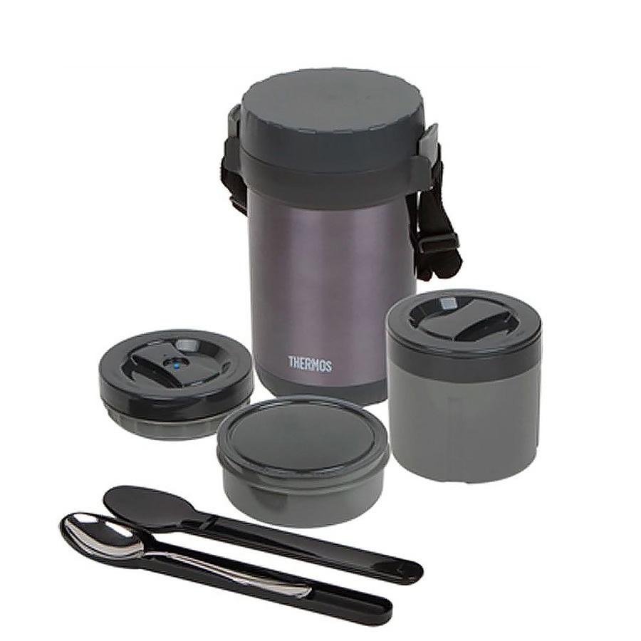 Купить Термос с пластиковыми контейнерами и ложкой тм Thermos jbg-1800 food jar 1.8л, Китай, сталь нержавеющая